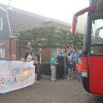 Aankomst bus foto